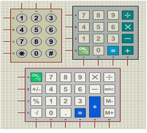 keyboard interfacing with 8051 ic microcontroller