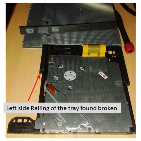 dvd tray stuck repair