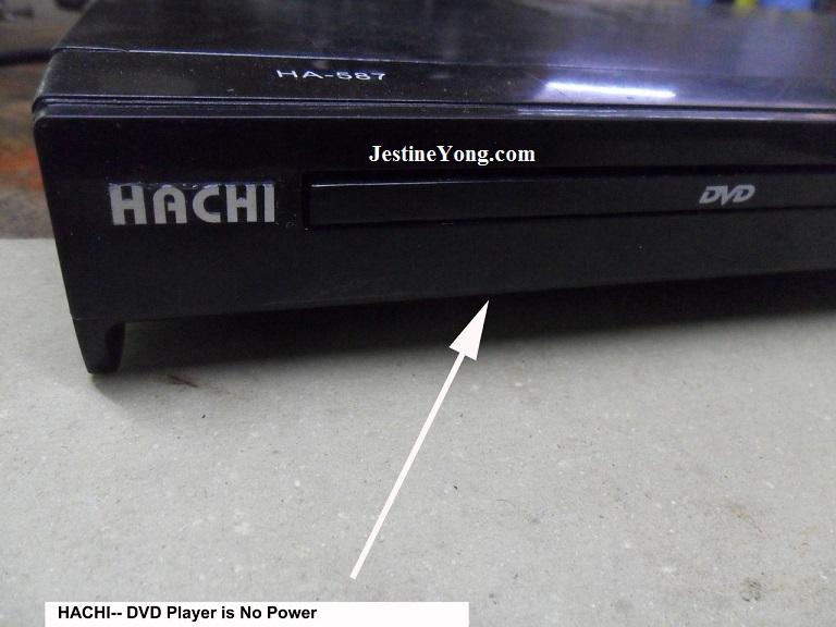 HACHI dvd no power repair