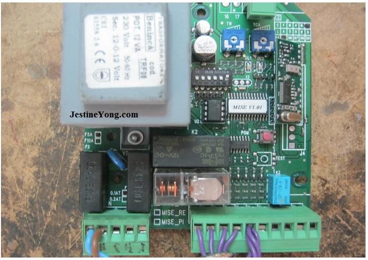 A door power controller board repaired